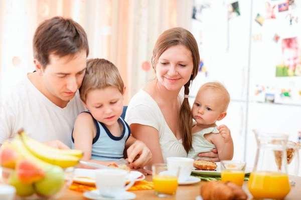 Неправильный завтрак ребенка