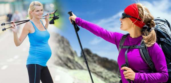 Скандинавская ходьба для беременных