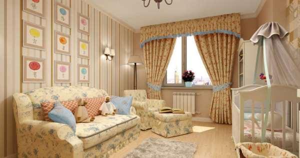 Цветочные фантазии детской комнаты