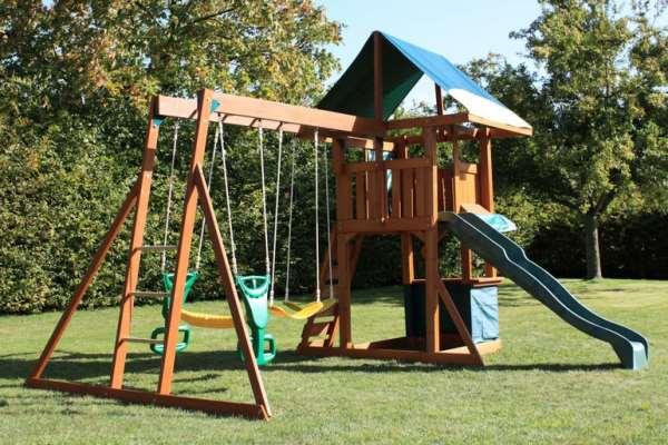 Детские площадки и батуты своими руками