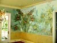 Роспись на стенах – удачная фишка вашего интерьера