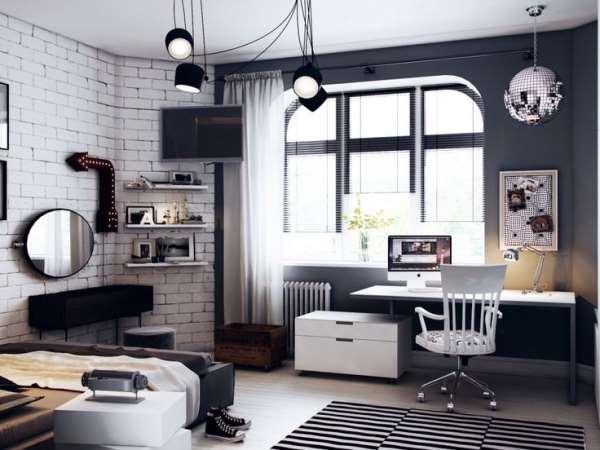 Современная мебель и перепланировка комнаты для подростка