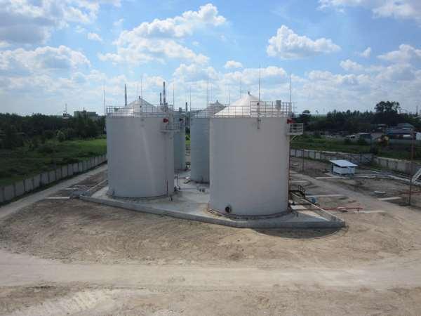 Резервуары и емкости для строительства нефтебаз