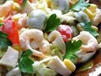 Рецепт вкуснейшего салата из кальмаров