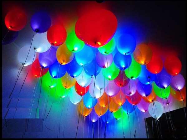 Светящиеся шары для незабываемого торжества