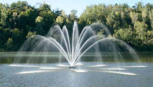 Плавающие фонтаны – превосходное дополнение ландшафтного дизайна