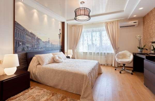 Натяжные потолки в спальне — теплоизоляция вкупе со звукоизоляцией