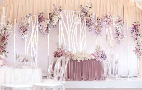 Оформление свадьбы цветами в европейском стиле