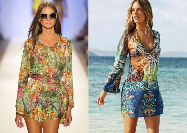 Купить стильную пляжную тунику в Москве