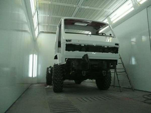 Покраска кабины грузовика как способ убрать дефекты