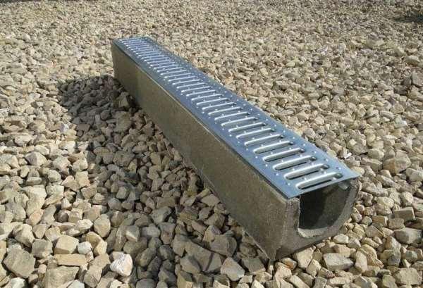 Типоразмеры и виды водоотводных бетонных лотков