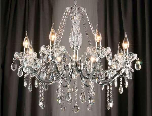 Хрустальные люстры — изысканный дизайн